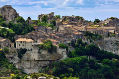 Les Baux. De Provence village on the rock formation and its castle. France, Europe Stock Image