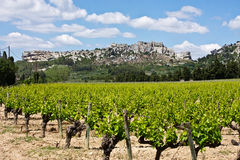 Les Baux de Provence and Vineyard Royalty Free Stock Image