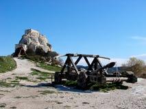 Les Baux-de-Provenza, castello Fotografia Stock