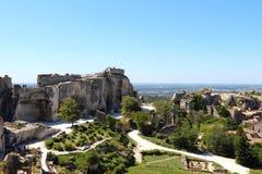 Les Baux-de-Provenza ed il castello, Francia Immagini Stock
