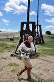 Les Baux, mittelalterlicher Krieger, Frankreich Lizenzfreie Stockfotografie