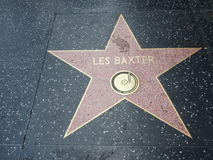 Les Baxter-ster in hollywood Royalty-vrije Stock Foto