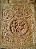 Les beautés de danse sur des murs de temple Image stock