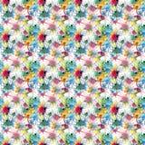 Les beaux beaux taches et filets colorés abstraits mignons graphiques artistiques lumineux modèlent l'aquarelle Photographie stock libre de droits
