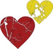 les beaux coeurs éclaboussent deux Images stock