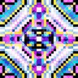 Les beaux petits polygones de pixels lumineux soustraient le modèle géométrique sans couture Images stock