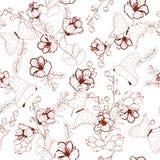 Les beaux semleass de vecteur modèlent la fleur et les papillons avec le DA Images stock