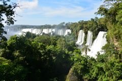 Les belles chutes d'Iguaçu en Argentine Amérique du Sud photos stock