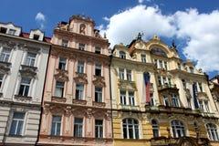 Les belles constructions de Prague Photographie stock libre de droits