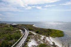 Les belles eaux de la grande lagune au grand parc d'état de lagune à Pensacola, la Floride Image stock