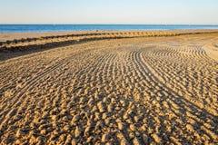 Les belles et propres plages de Barcelone Photo libre de droits
