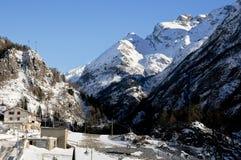Les belles montagnes autour du bionaz dans le Val d'Aoste, Italie Photos stock