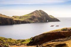 Les belles vues sur la traînée à Ponto font le sao Lourenco, Madère Image libre de droits