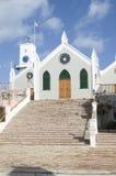 Les Bermudes. Église de rue Peter, rue Georges Image stock