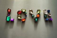 Les bijoux de scintillement de pierres brillantes de charme scintillent fond de cadre de gemmes Photos stock