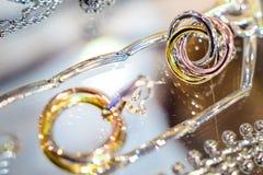 Les bijoux des femmes des matériaux précieux image libre de droits