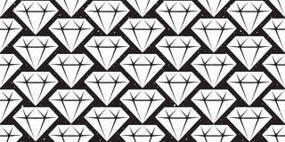 Les bijoux en cristal de modèle sans couture de gemme de diamant ont isolé le papier peint en cristal de fond de vecteur illustration stock