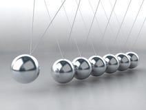 les billes de équilibrage bercent Newton s Images libres de droits
