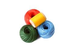 Les billes de couture colorées ont isolé Photo libre de droits