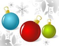 Les billes de Noël ont placé Images libres de droits