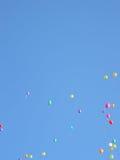 Les billes montent dans le ciel Photographie stock libre de droits