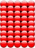 Les billes rouges donnent au vecteur une consistance rugueuse Photos stock