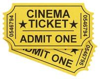 Les billets de cinéma Images stock