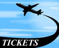 Les billets de vols indique le transport et l'avion d'avions Photo libre de droits