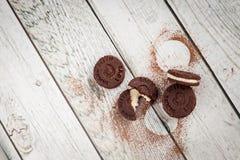 Les biscuits de chocolat aiment l'oreo Photos stock