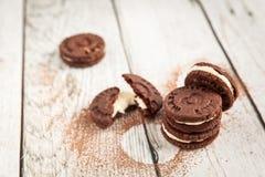 Les biscuits de chocolat aiment l'oreo Photo libre de droits