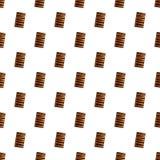 Les biscuits de fente de chocolat modèlent le vecteur sans couture illustration libre de droits
