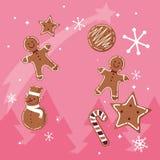 Les biscuits de Noël conçoivent illustration stock