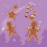 Les biscuits de Noël conçoivent illustration libre de droits
