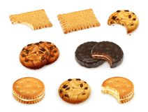 Les biscuits dirigent l'ensemble Photographie stock libre de droits