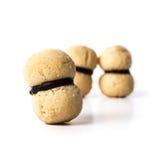 Les biscuits italiens ont appelé baci di dama fait avec des écrous Photo stock