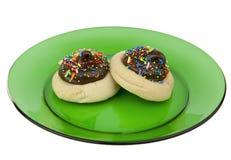 les biscuits plaquent deux photo stock