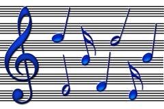 Les bleus illustration de vecteur