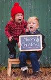 Les bleus de Noël Photographie stock libre de droits
