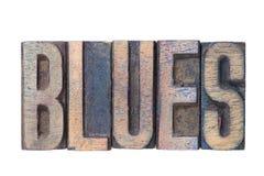 Les bleus expriment en bois photo libre de droits