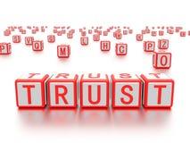 Les blocs avec le mot font confiance écrit là-dessus Photo libre de droits