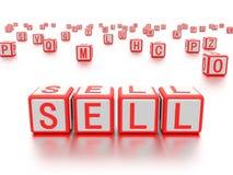 Les blocs avec le mot se vendent écrit là-dessus Images stock