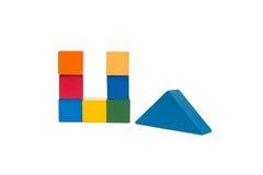 Les blocs constitutifs des vieux enfants Image stock