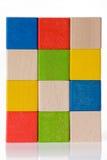 les blocs jouent en bois Photo stock