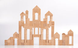 les blocs se retranchent en bois Image libre de droits