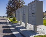 Les boîtes aux lettres ombragent en complexe d'appartements en Utah Image libre de droits