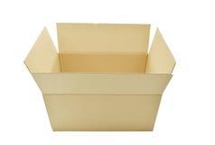Les boîtes en carton s'ouvrent sur le fond blanc Photos stock