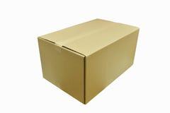 Les boîtes en carton s'ouvrent sur le fond blanc Images stock