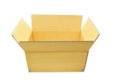Les boîtes en carton s'ouvrent sur le fond blanc Photographie stock libre de droits