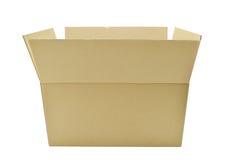 Les boîtes en carton s'ouvrent sur le fond blanc Photo libre de droits