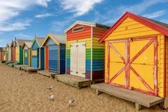 Les boîtes se baignantes colorées à Brighton échouent à Melbourne, Australi image libre de droits